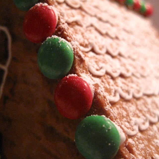 Gingerbread house, opskrift, jul, hus, pyntet