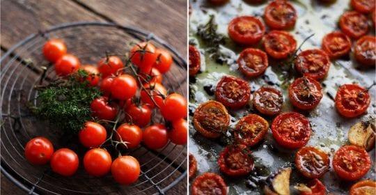 semidried tomater, opskrift