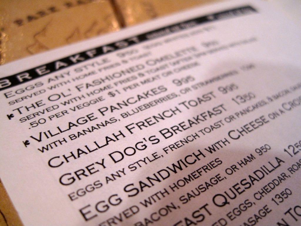 Grey Dog Bedford And Carmine : Vores lokale morgenmadscaf? eller lidt om det mad vi fik
