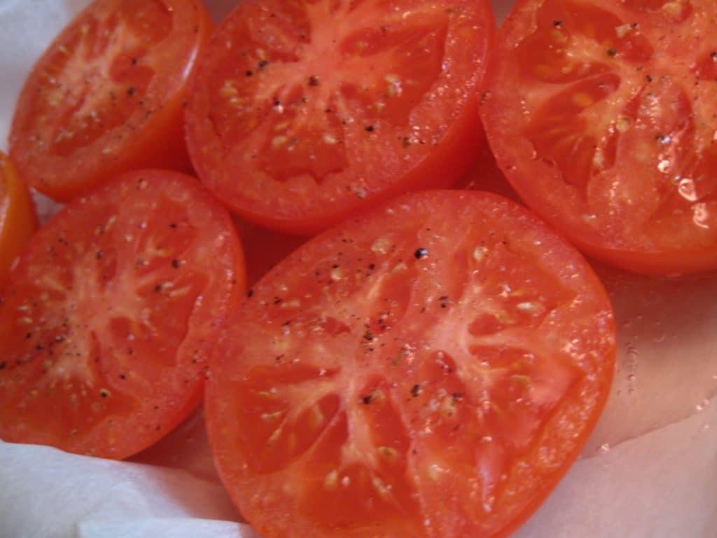 ovnbagt, nemt, lækkert, opskrift, sundt, tomater