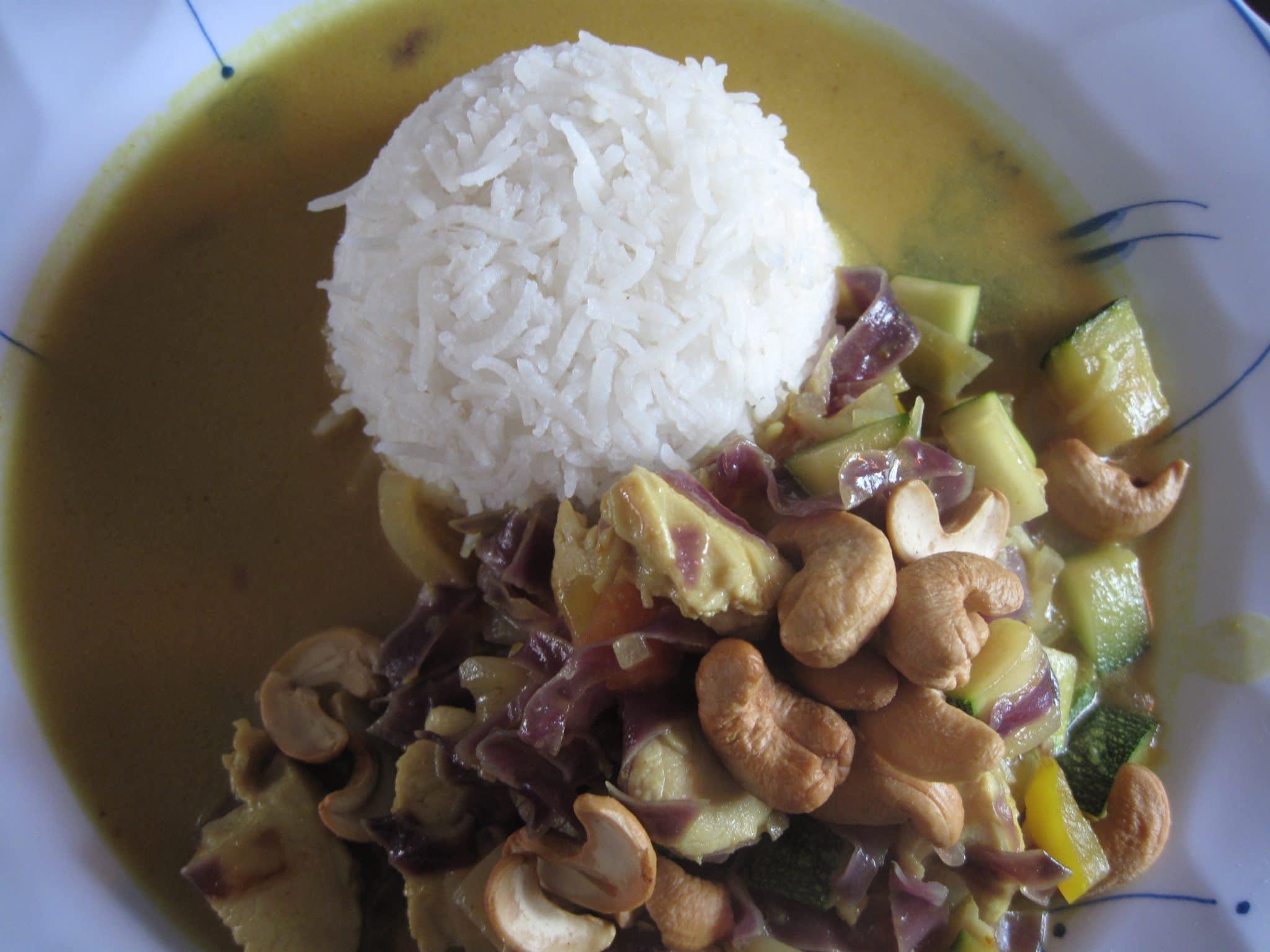 kylling, wok, ris, opskrift, nemt, lækkert