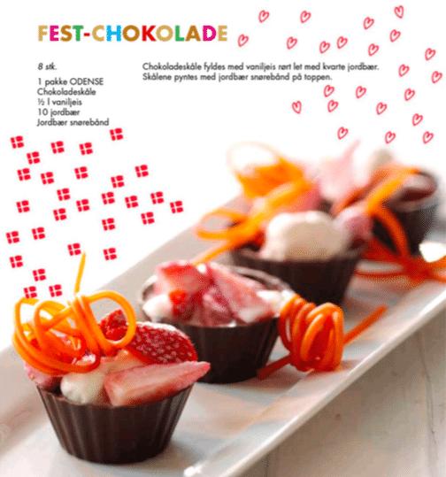 chokolade, chokoladeskåle, fødselsdag, børnefødselsdag, opskrift