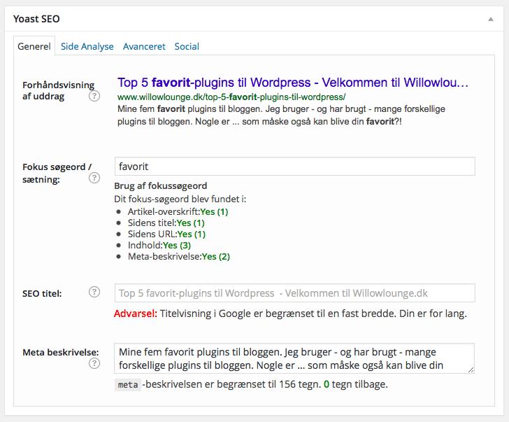 plugin, yoast, seo, søgemaskineoptimering