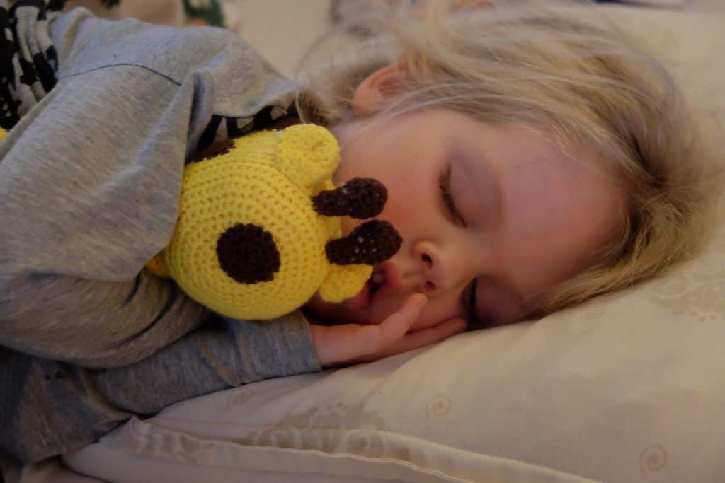 træt, giraf, hækle, diy, sove, lillejuleaften