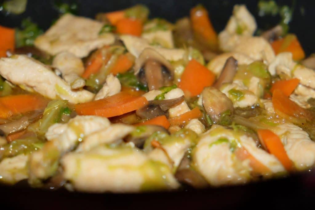 lynstegt kalkun, wok, opskrift, sund, sundt, lækkert, nemt