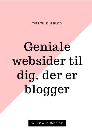 Uundværlige websider til bloggeren