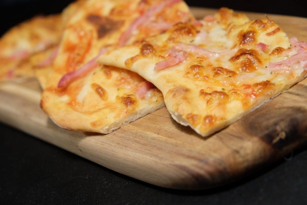 pizza, hjemmelavet, opskrift, lækkert, aftensmad, velbekomme