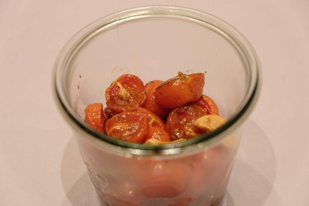 semidried, tomater, langtidsbagte, opskrift