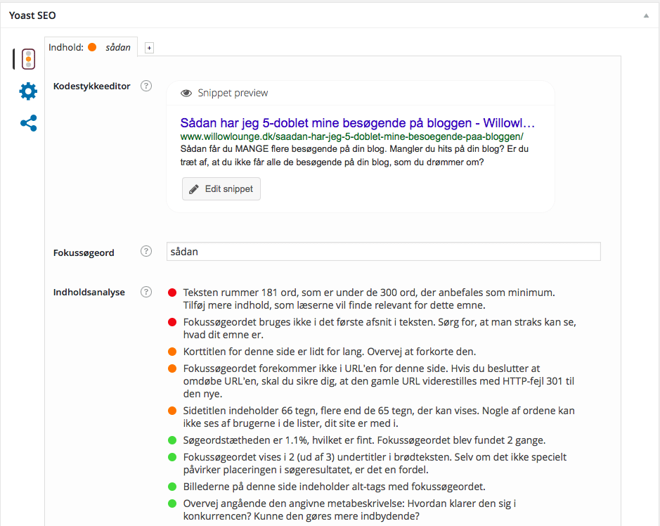 sådan, yoast seo, søgemaskine, søgemaskineoptimering