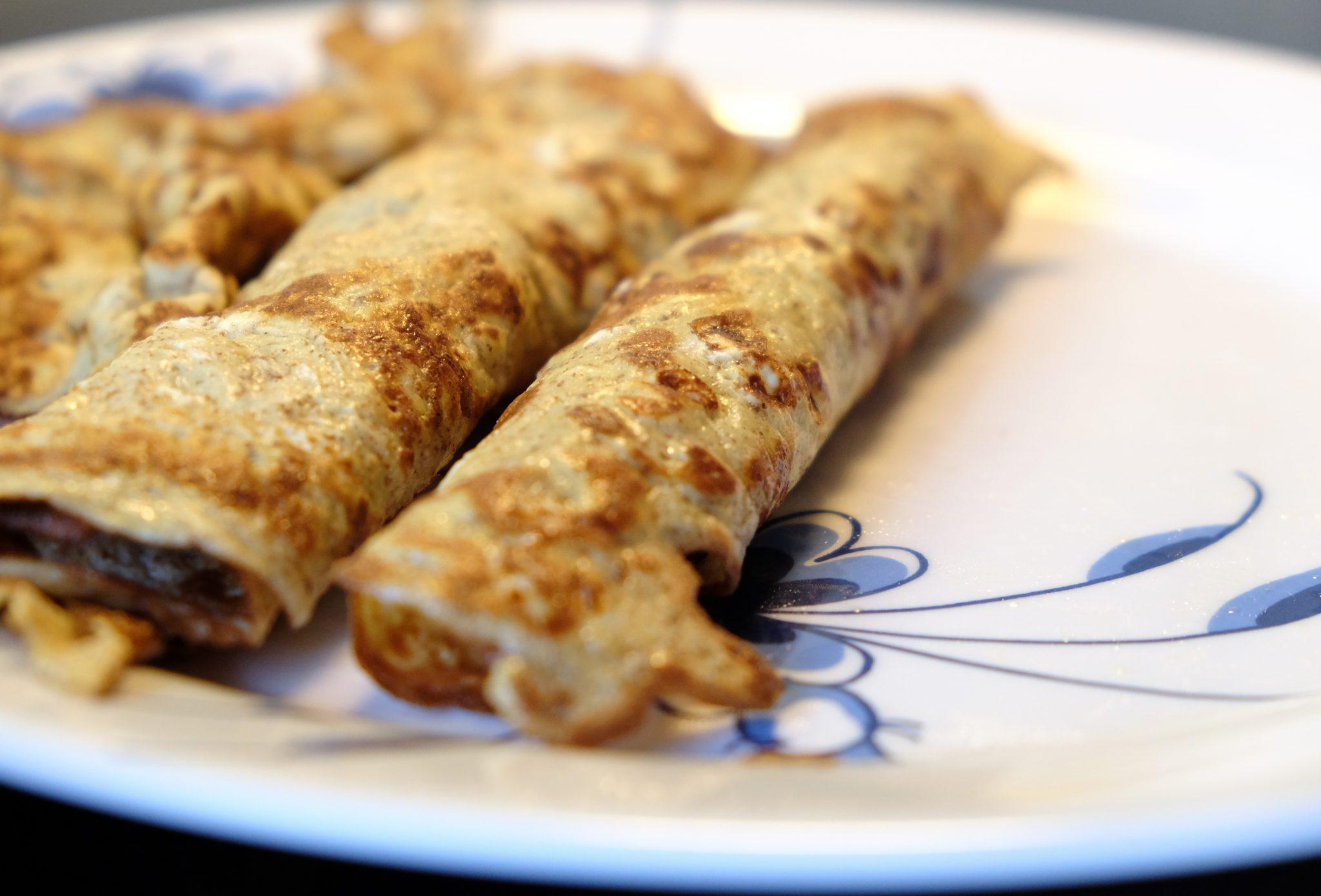 sunde pandekager, uden mel, sunde, nemme, gode, lækre, velbekomme, opskrift