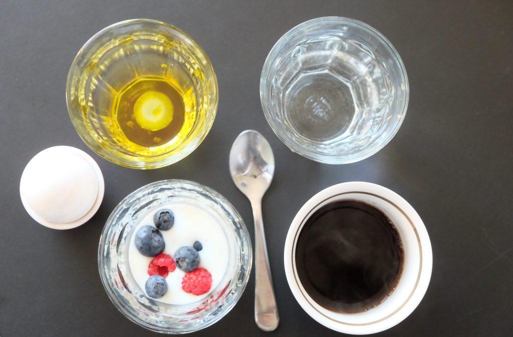 morgenmad, a38, bær, kaffe, olieshot, æg