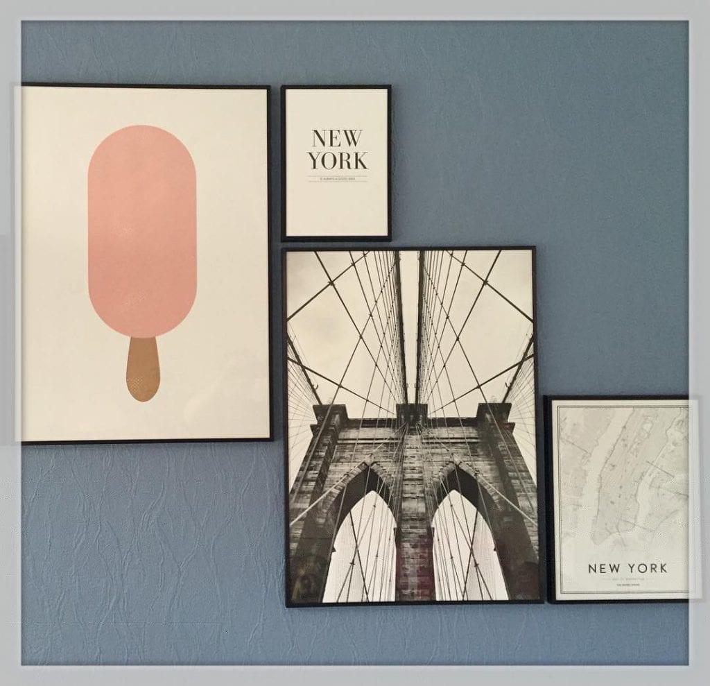 Ny plakat på min væ - I LOVE IT ?????? #brooklynbridge #plakat #nyc #desenio #billedvæ #billedevæ #bolig #indretning #iloveit ??