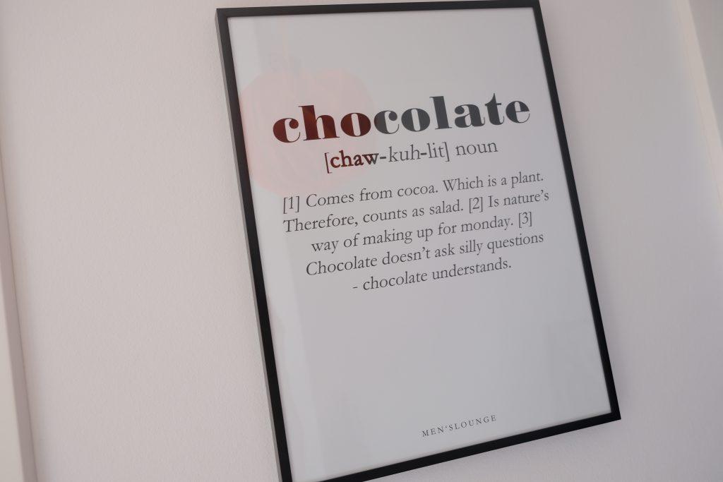 men's lounge, plakat, poster, chocolate, chokolade