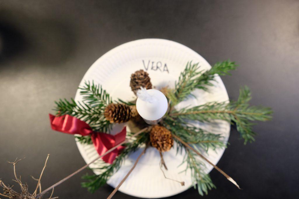 Veras hjemmelavede juledekoration