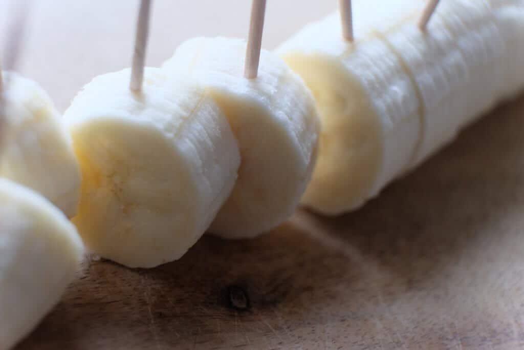 Banan med chokolade og krymmel